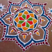 Rangoli Designs for Diwali 2016 - Free Hand Rangoli with Colors
