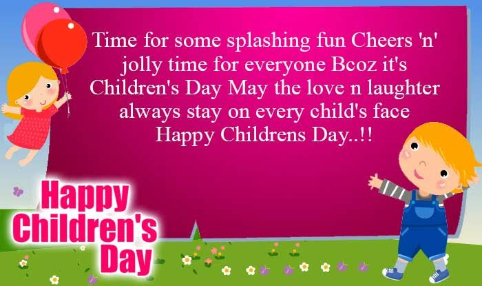 Happy Childrens Day Status for Whatsapp & Messages for Facebook
