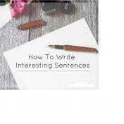 How to Write Interesting Sentences